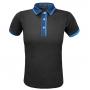 Tricou polo FUNKIER Bari Active Men S/S - Black/Blue 2XL