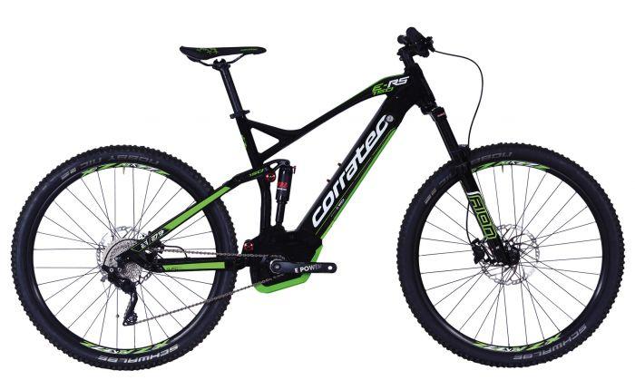 Bicicleta CORRATEC E-Power RS 150 Elite 29 negru / alb / verde - 510mm