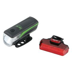 3101367 Far + stop CONTEC Speed Led - 20lux - negru/verde