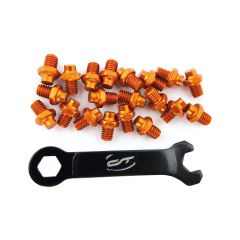 3369865 Pini pedale CONTEC R-pins Select- orange 20buc - incl. cheie