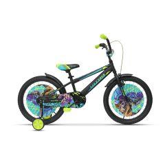 ULT18005 Bicicleta ULTRA Kidy 20 negru mat