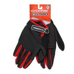 Manusi CROSSER RS-560 cu degete - negru/rosu - L