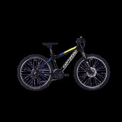Bicicleta CORRATEC X-Vert Rock 26 negru / galben neon / albastru - 390mm