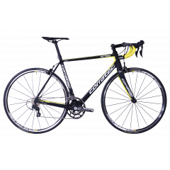 Bicicleta CORRATEC CCT Team LTD carbon / galben neon / alb - 570mm