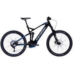 Bicicleta CORRATEC E-Power RS 150 PRO 27.5+ negru / alb / albastru - 460mm