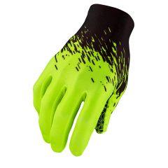 Manusi cu degete SUPACAZ SupaG - negru / galben neon - L