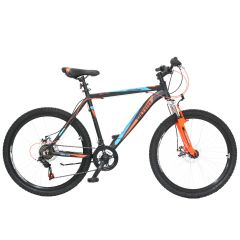 "ULT17021-48 Bicicleta ULTRA Agressor 26"" negru/portocaliu neon/albastru"