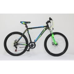 "ULT17022-44 Bicicleta ULTRA Agressor 26"" negru/verde neon/albastru 440mm"
