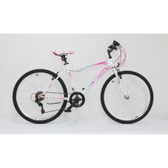 "ULT17015-42 Bicicleta ULTRA Gravita 26"" alb/roz/verde 420mm"
