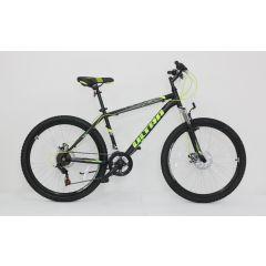 """ULT17019-52 Bicicleta ULTRA Razor 26"""" negru/galben neon/verde neon 520mm"""