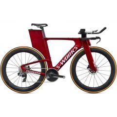 Bicicleta SPECIALIZED S-Work Shiv Disc - SRAM Red eTap AXS Gloss Metallic Crimson/Dove Grey XS