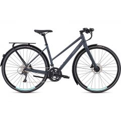 Bicicleta SPECIALIZED Women's Sirrus Sport EQ Step-Through - Black Top LTD Satin Cast Battleship/Lig