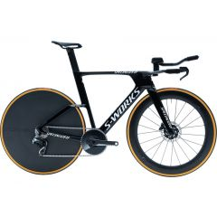Bicicleta SPECIALIZEDS-Works Shiv TT Disc - Gloss Tarmac Black/White XS
