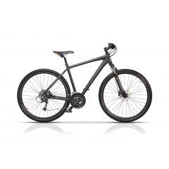 "CRS17112-50 Bicicleta CROSS Quest Man Cross 28"" Negru/Portocaliu 500mm"
