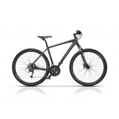 "CRS17112-55 Bicicleta CROSS Quest Man Cross 28"" Negru/Portocaliu 550mm"