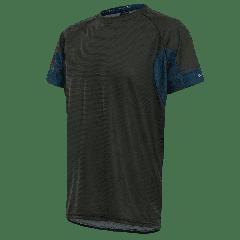 Tricou alergare FUNKIER Cassoti - Negru/Albastru 2XL