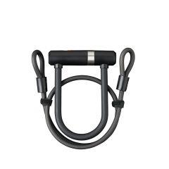 59502995SS Incuietoare AXA Newton Pro UL MINI 150/14 + cablu 100*8mm neg