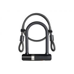 Incuietoare U AXA Newton UL MINI 140/16 + cablu 100*10mm negru