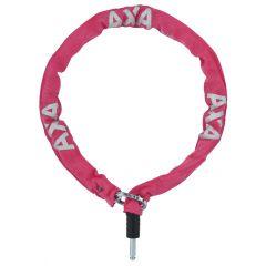 5955139701SS Incuietoare cu lant AXA Plug-in RLC 100cm/5,5mm roz