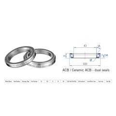 "160-0016000000 Rulment cuvete FSA TH-872E ACB 36x36 1""1/8 dualS MR043"