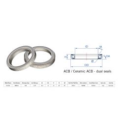 160-6465 Rulment cuvete FSA TH-873S ACB 1 1/8 36x45 dualS MR054S