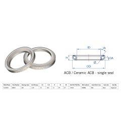 "160-0036000000 Rulment cuvete FSA TH-970/DJ ACB 45x45 1""1/4 singleS MR10"