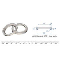 "160-6737 Rulment cuvete FSA TH-970S ACB 45x45 1""1/4 dualS MR082S"
