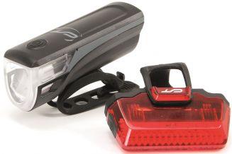 3101441 Far + stop CONTEC Speed Led USB - 20lux - negru/gri