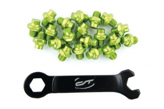 3369857 Pini pedale CONTEC R-pins Select- verde 20buc - incl. cheie