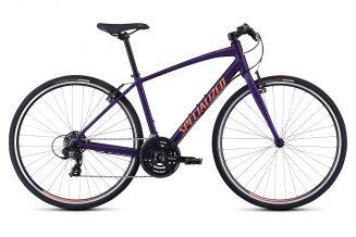Bicicleta SPECIALIZED Sirrus V-Brake - Women's Spec - Satin Plum Purple/Acid Lava M