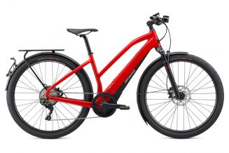 Bicicleta SPECIALIZED Turbo Vado 6.0 Step-Through - Flo Red/Blue Ghost Pearl L