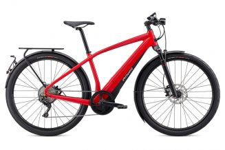 Bicicleta SPECIALIZED Turbo Vado 6.0 - Flo Red/Blue Ghost Pearl M