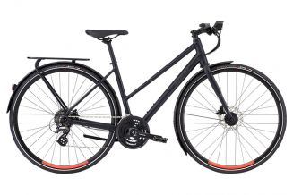 Bicicleta SPECIALIZED Women's Sirrus EQ Step-Through - Black Top LTD Satin Cast Black/Acid Lava S