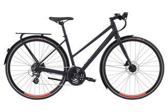 Bicicleta SPECIALIZED Women's Sirrus EQ Step-Through - Black Top LTD Satin Cast Black/Acid Lava M