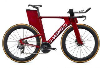 Bicicleta SPECIALIZED S-Work Shiv Disc - SRAM Red eTap AXS Gloss Metallic Crimson/Dove Grey S