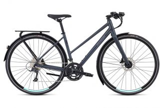 Bicicleta SPECIALIZED Women's Sirrus Sport EQ Step-Through - Black Top LTD Satin Cast Battleship/Lig