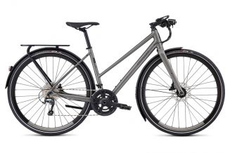 Bicicleta SPECIALIZED Women's Sirrus Elite EQ Step-Through - Black Top LTD Satin Sterling Grey/Black