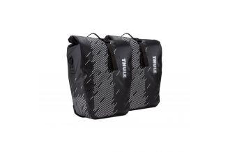 Geanta portbagaj THULE Shield Pannier stanga/dreapta - Monument/Black - L