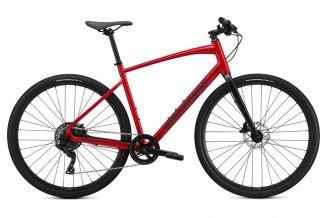 Bicicleta SPECIALIZED Sirrus X 2.0 - Flo Red W/Blue Ghost Pearl/Black/Satin Black XXS