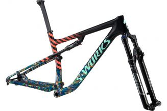 Cadru SPECIALIZED 2020 S-Works Epic - Gloss Carbon/Cobalt Marble/BrassyYellow Marble/Vivid Coral/Oas