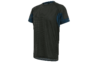 Tricou alergare FUNKIER Cassoti - Negru/Albastru XL