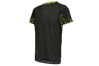 Tricou alergare FUNKIER Cassoti - Negru/Galben XL