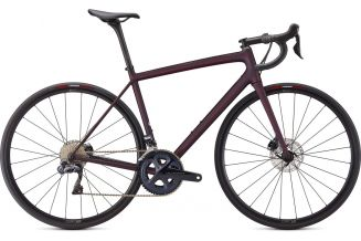 Bicicleta SPECIALIZED Aethos Expert - Satin Red Tint/Dream Silver 54
