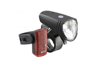Far + stop AXA Greenline 15 Lux - 1 LED USB