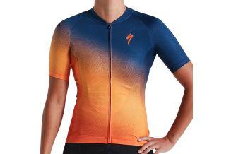 Tricou SPECIALIZED Women's SL SS - Orange Sunset/Dark Blue M