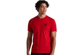 Tricou SPECIALIZED Men's S-Logo SS - Flo Red S