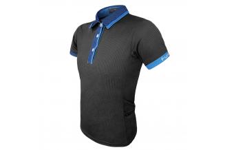Tricou polo FUNKIER Bari Active Men S/S - Black/Blue 3XL