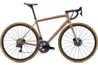 Bicicleta SPECIALIZED S-Works Aethos - Dura Ace Di2 - Flake Silver/Red Gold Chameleon 56